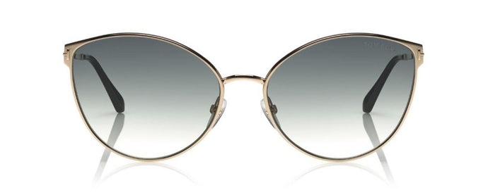 Tom Ford Zeila Cat Eye Sunglasses in Gold