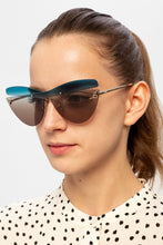 Load image into Gallery viewer, Fendi 0400/S Karligraphy Cat Eye Sunglasses in Multicolor Brown Blue