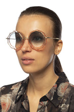 Load image into Gallery viewer, Chloe CE160S Caite Scalloped Sunglasses in Blue Gradient
