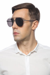 Fendi FFM0031 Aviator Sunglasses in Palladium