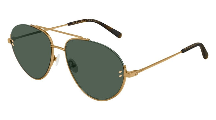 Stella McCartney SC0179S Gold Aviator Sunglasses