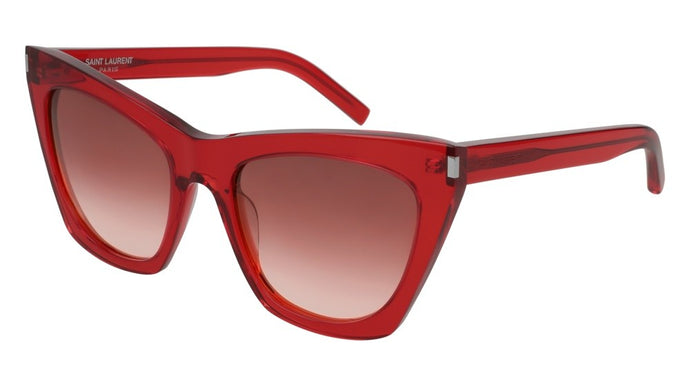 Saint Laurent Kate SL214 Oversized Cat Eye Sunglasses in Red