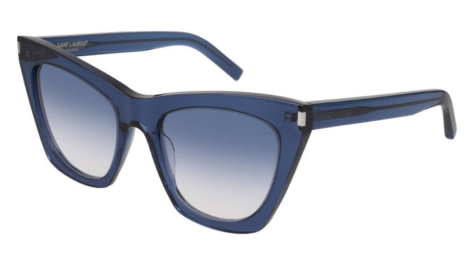 Saint Laurent Kate SL214 Oversized Cat Eye Sunglasses in Blue