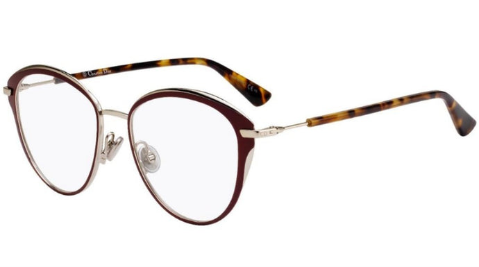 Dior Essence 20 Eyeglasses Frames in Burgundy Metal
