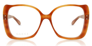 Gucci GG0473O Oversized Eyeglasses Frames in Havana Brown