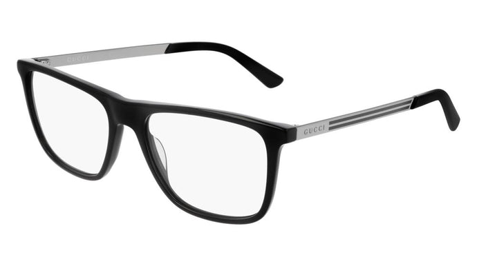 Gucci GG0691O Rectangular Metal Leg Eyeglasses Frames in Black