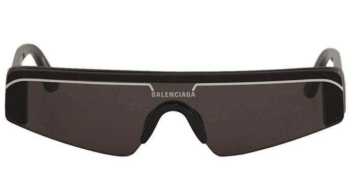 Balenciaga BB0003S 001 Ski Shield Mirrored Sunglasses in Black