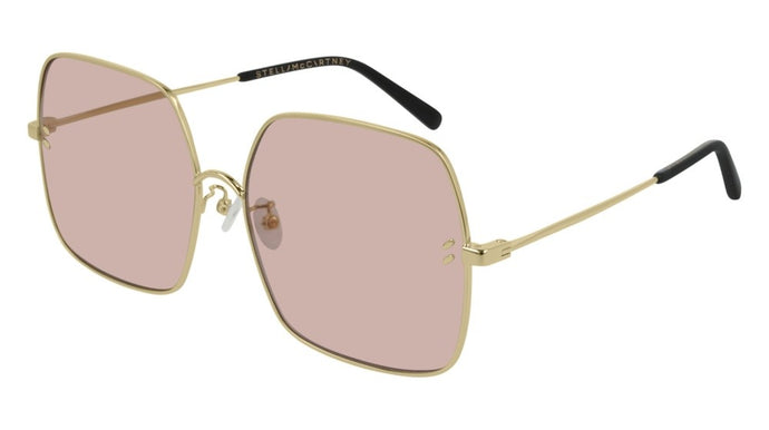 Stella McCartney SC0158S Square Metal Sunglasses in Pink Lens
