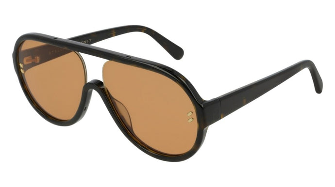 Stella McCartney SC0153S Aviator Sunglasses in Havana Brown