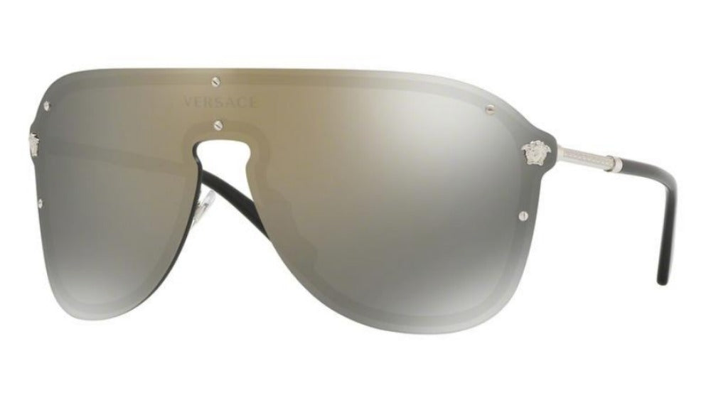 Versace 2180 Shield Sunglasses in Gold Mirror
