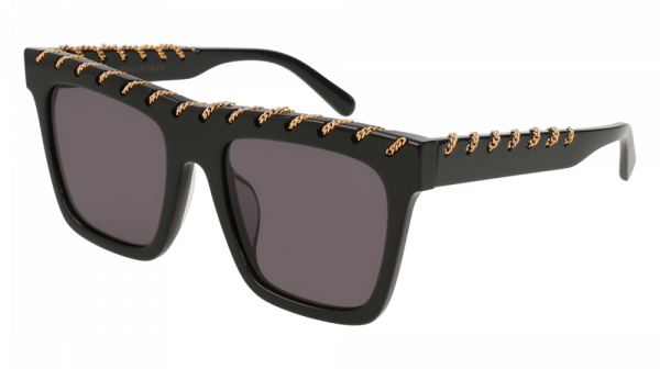 Stella McCartney SC0128SA Falabella Chain Sunglasses in Black