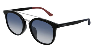 Gucci 0403SA Black Double Bridge Unisex Sunglasses