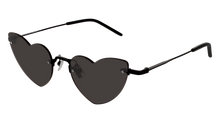 Load image into Gallery viewer, Saint Laurent SL254 Loulou Heart Rimless Sunglasses in Black