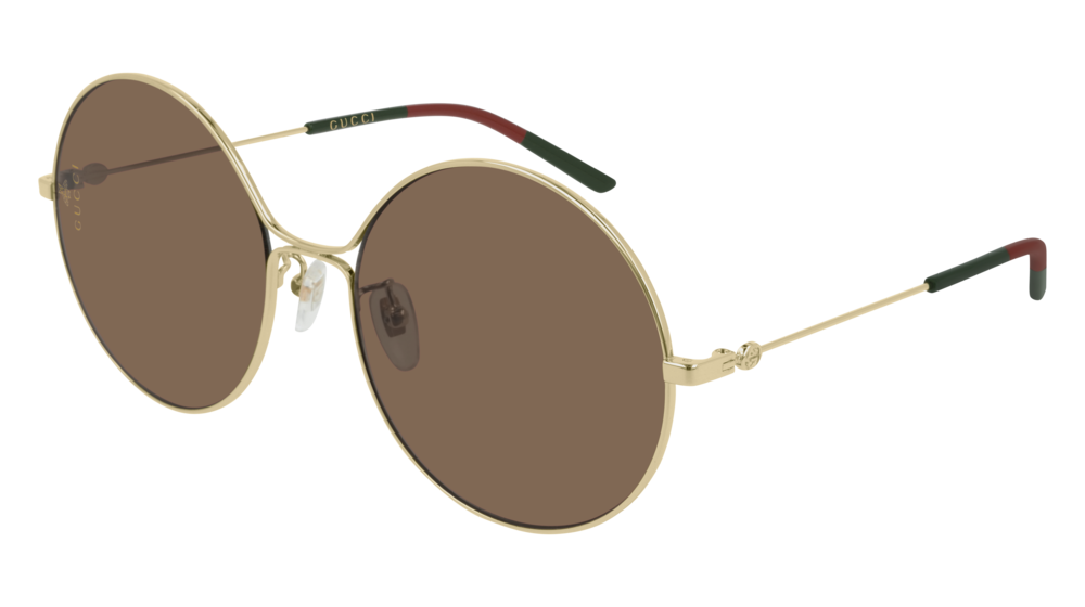 Gucci 0395S Round Metal Sunglasses in Gold