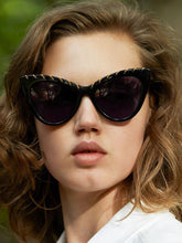 Load image into Gallery viewer, Stella McCartney SC0163S Falabella Cat Eye Chain Sunglasses in Black