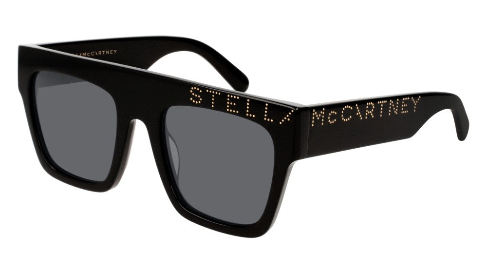 Stella McCartney SC0170S Black Studded Logo Sunglasses
