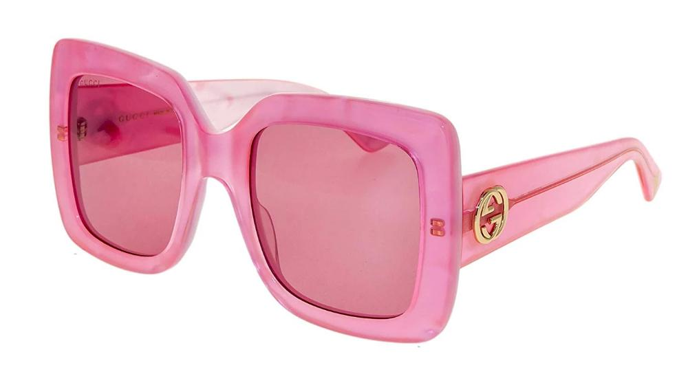 Gucci 0083S Oversized Square Sunglasses in Pink