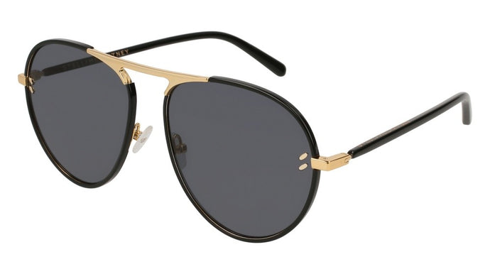 Stella McCartney SC0133S Metal Aviator Sunglasses in Black