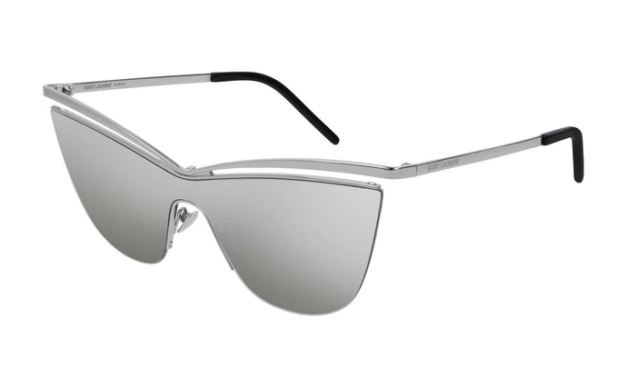 Saint Laurent SL249 Silver Mirrored Cat Eye Sunglasses