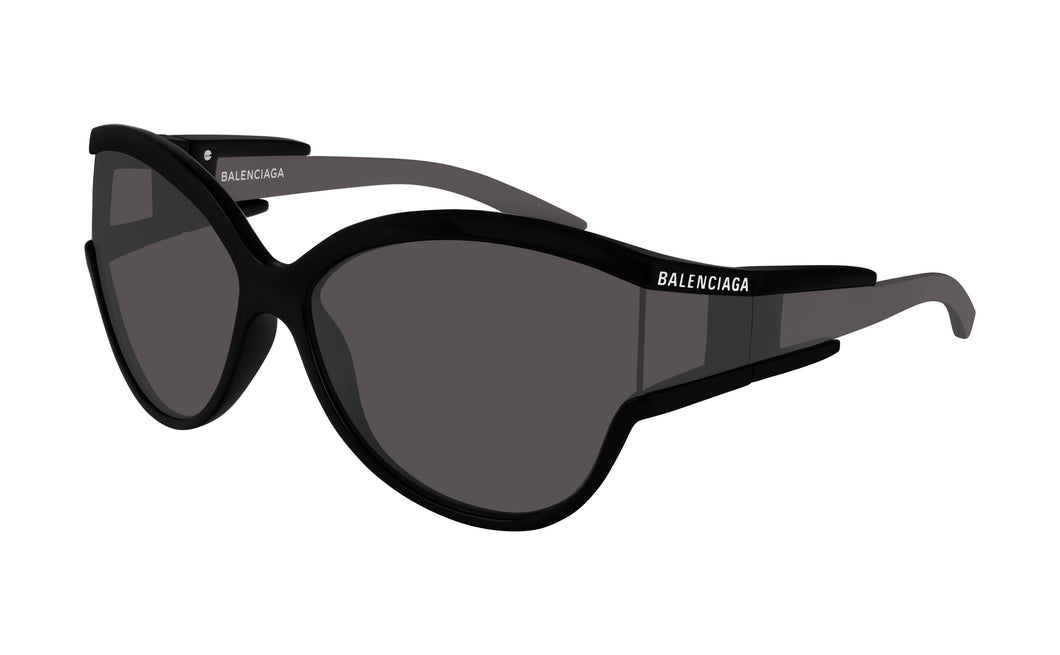 Balenciaga BB0038S 001 Cat Eye Sunglasses in Black