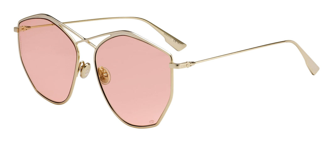 Dior Stellaire 4 Sunglasses in Gold with Tinted Pink Lens