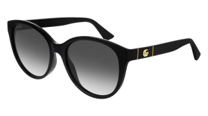 Gucci 0631S Rounded Marmont Logo Sunglasses in Black