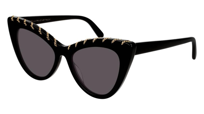 Stella McCartney SC0163S Falabella Cat Eye Chain Sunglasses in Black