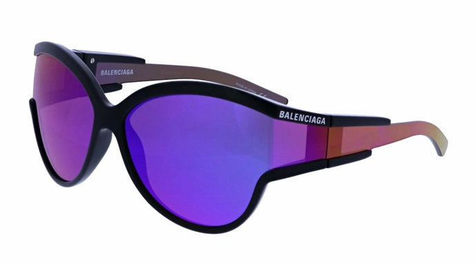 Balenciaga BB0038S 003 Cat Eye Sunglasses in Purple