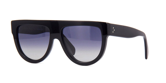 Celine CL4001IN Black Polarized Flat Top Sunglasses