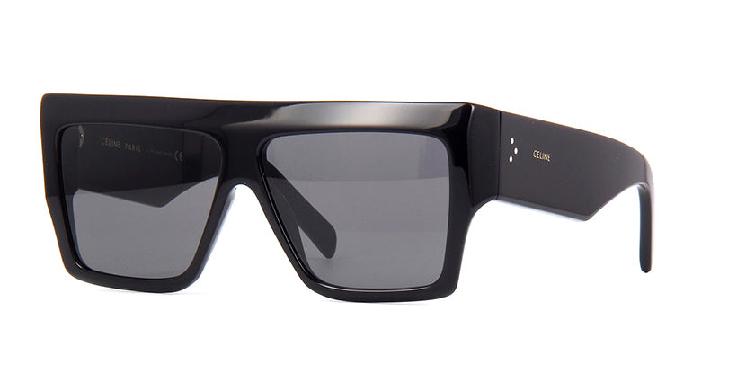 Celine CL4056IN Black Flat Top Angled Sunglasses