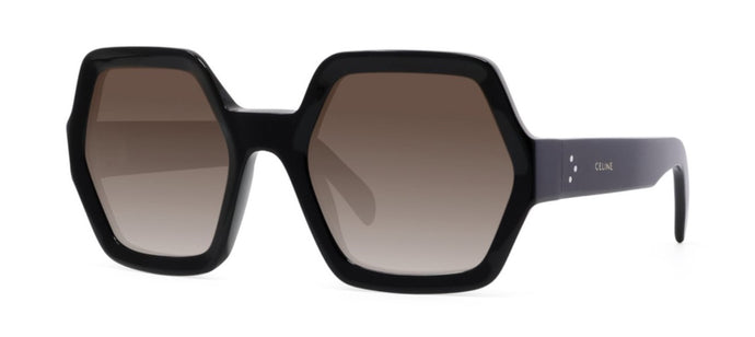 Celine CL40131I Black Oversized Hexagon Sunglasses