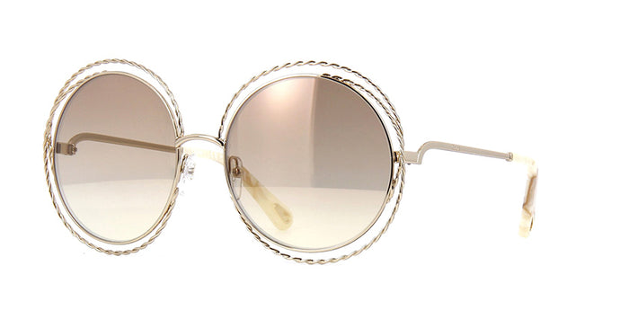 Chloe CE114ST Carlina Twist Sunglasses in Gold Mirror