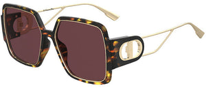 Dior 30Montaigne2 Oversized Square Sunglasses in Havana/Gold