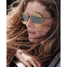 Load image into Gallery viewer, Dior Split 1 Aviator Sunglasses in Gold/Silver Mirrored