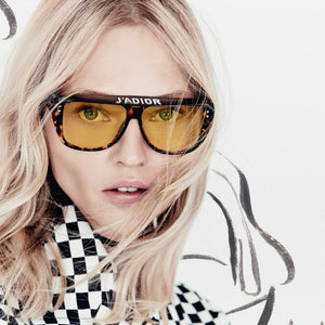 Dior J'adior Club 2 Visor Sunglasses in Yellow