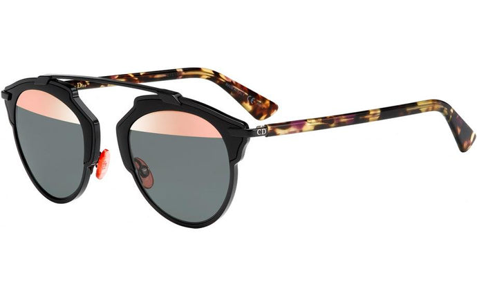 Dior So Real Sunglasses in Black Pink Mirrored