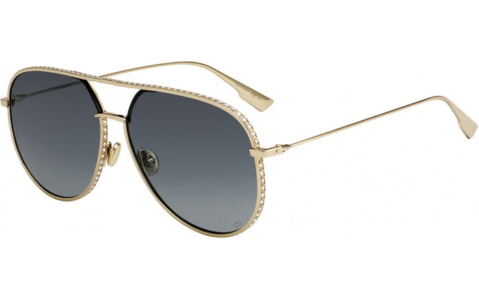 Dior DiorbyDior1/S Crystal Encrusted Aviator Sunglasses in Gold