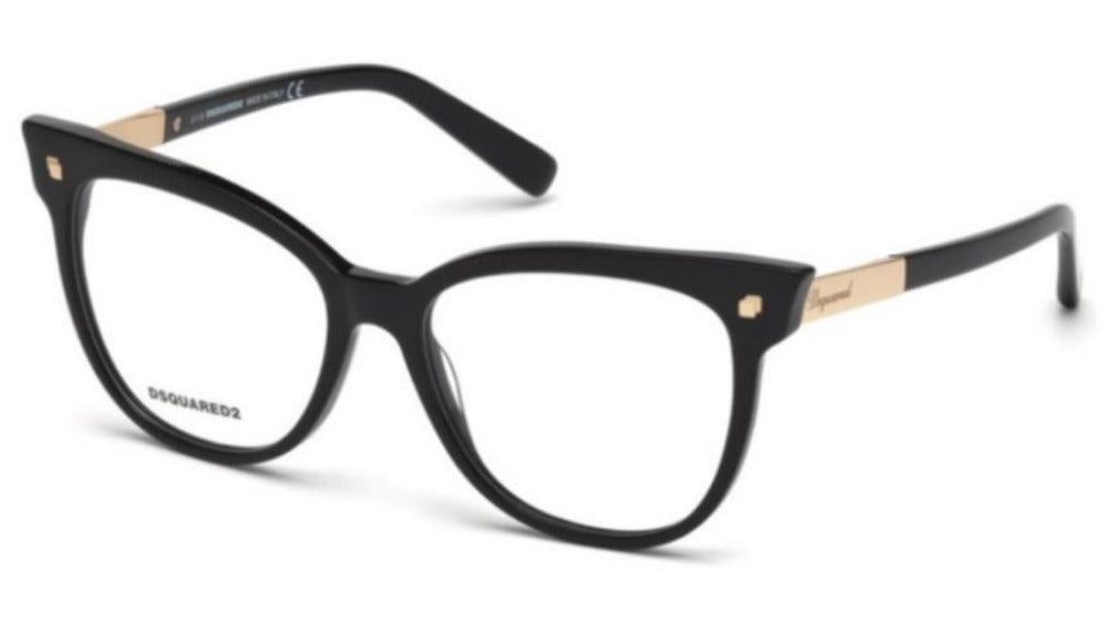 Dsquared DQ5214 Black Cat Eye Eyeglasses Frames