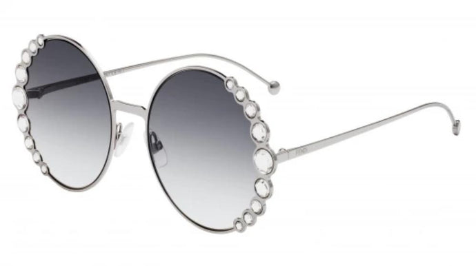 Fendi 0324 Ribbons and Crystals Round Sunglasses