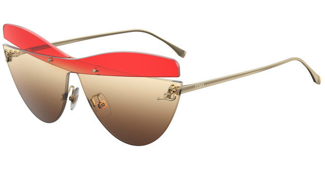 Fendi FF0400/S Karligraphy Cat Eye Sunglasses in Red