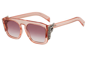 Fendi 0381/S Freedom Crystal Logo Sunglasses in Pink