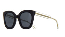 Load image into Gallery viewer, Gucci 0564S Oversized Rounded Cat Eye Clear Leg Sunglasses