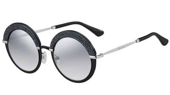 Jimmy Choo Gotha Glitter Black Round Sunglasses