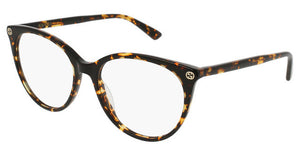 Gucci GG0093O Tortoise Brown Cat Eye Eyeglasses Frames