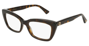 Gucci GG0165O Cat Eye Eyeglasses Frames in Havana Brown