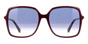 Gucci 0544S Oversized Burgundy Square Sunglasses