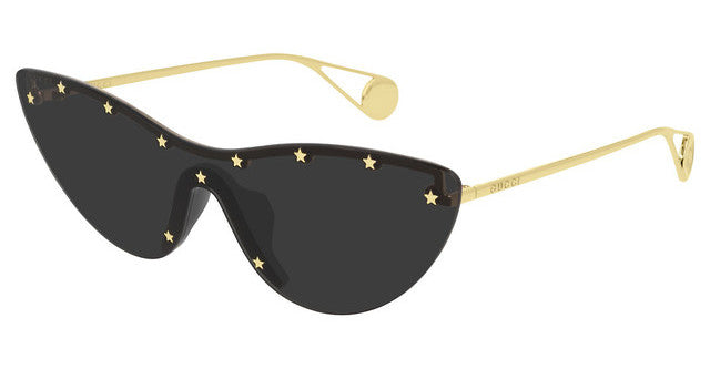 Gucci GG0666S Cat Eye Star Studded Black Sunglasses