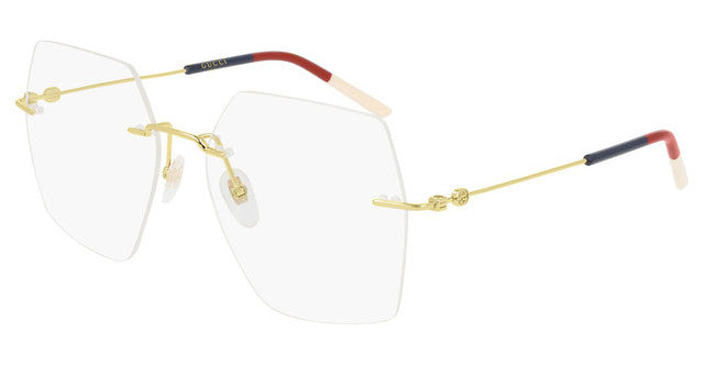 Gucci GG0683O Oversized Hexagon Rimless Eyeglasses Frames