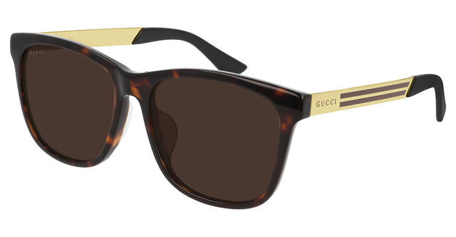 Gucci GG0695SA Square Sunglasses in Havana Brown