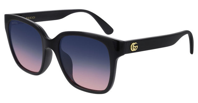 Gucci GG0715SA Black Gradient Square Marmont Logo Sunglasses